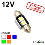 12v 31mm Festoon 2 SMD LED Bulb (canbus)