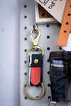 Selvedge Key Fob | Blue Line + Red Tab