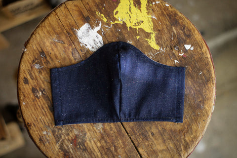 Cotton Face Mask | 10oz. Rainbow Slub Denim