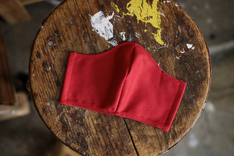 Cotton Face Mask | 12oz. RED BULL DENIM