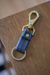 Selvedge Keyfob | Grey/Teal Japanese Denim