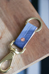 Leather Keyfob |  Brushed Indigo