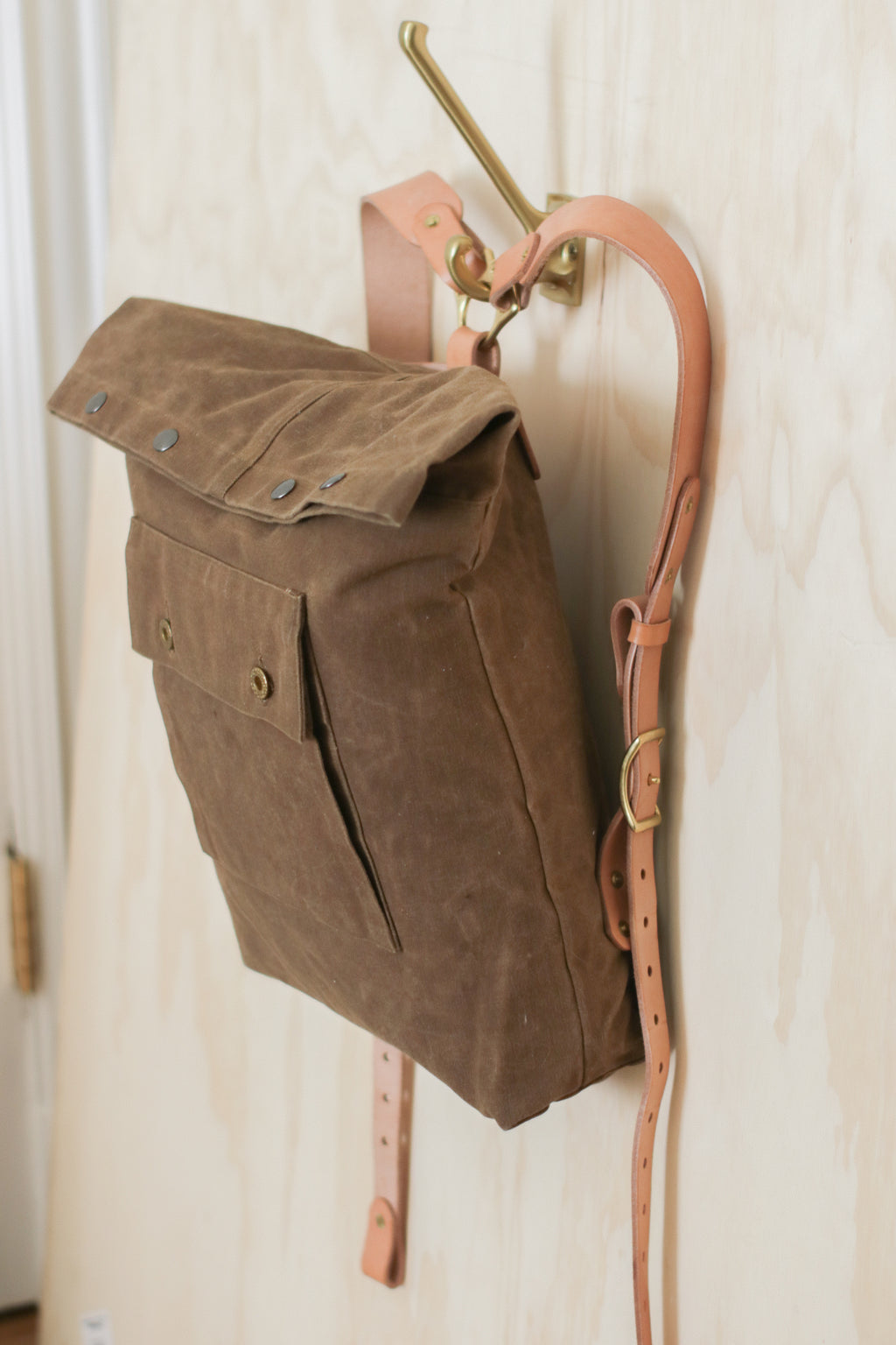 LOT No.TWO | No.004 | Waxed Fold-Over Backpack