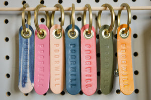 Leather Key Tags | in C O L O R S !