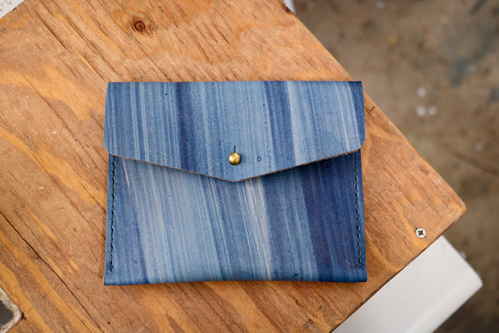 Standard Leather Card Pocket | INDIGO BRUSH