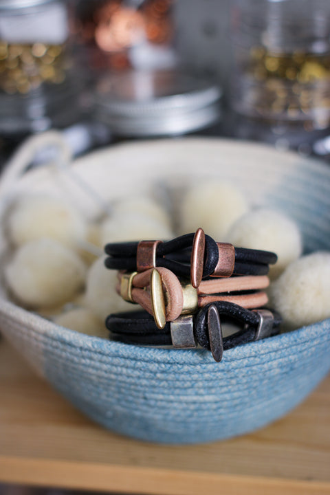 Leather Bracelet | SKINNY DIP - INDIGO or HELLA BLACK