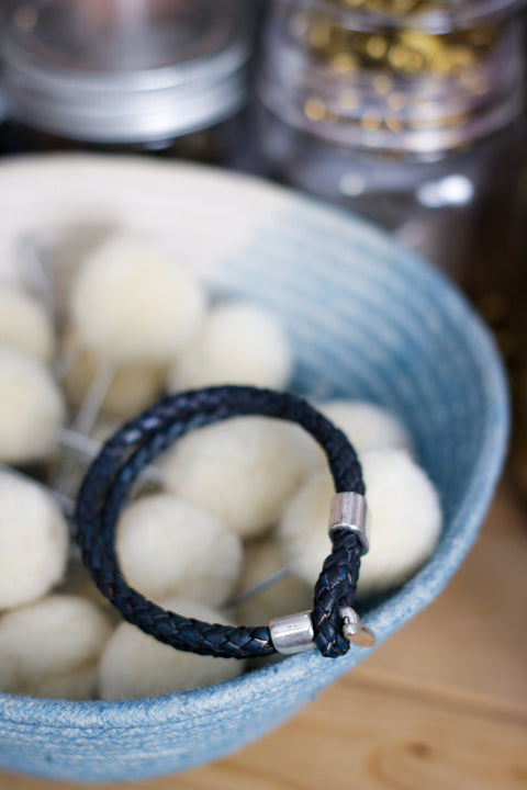 Leather Bracelet |  BRAIDED BOLO + HELLA INDIGO
