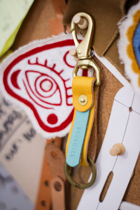 Leather Key Fob | LEMON DROP