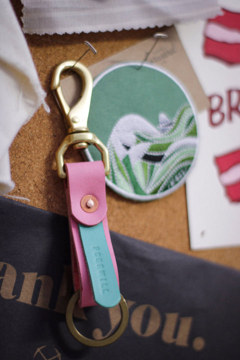 Leather Key Fob | TIKI BAR