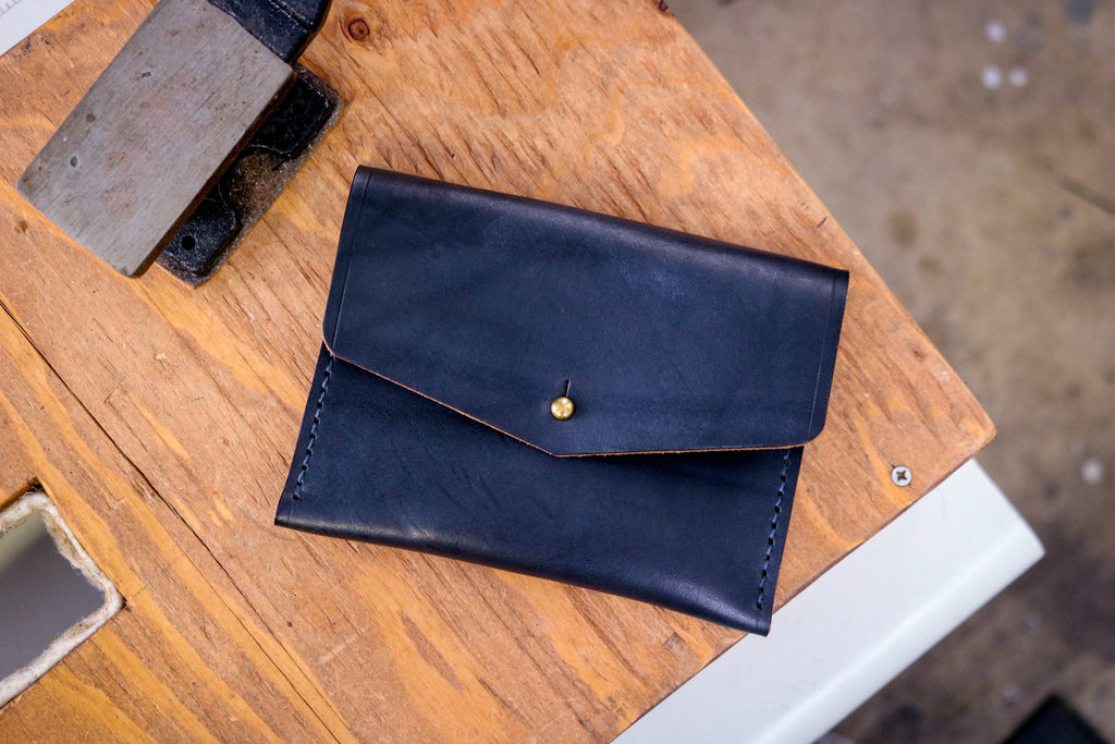[MISFIT/SAMPLE] Standard Leather Card Pocket | MIDNIGHT BLACK