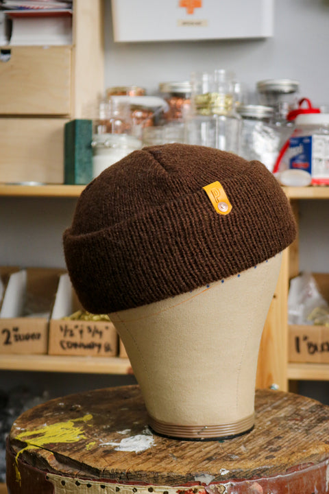 Wool Watch Cap | MOLE SAUCE BROWN