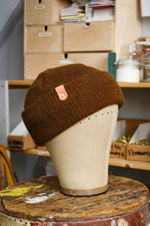 Wool Watch Cap | COCOLATITO BROWN