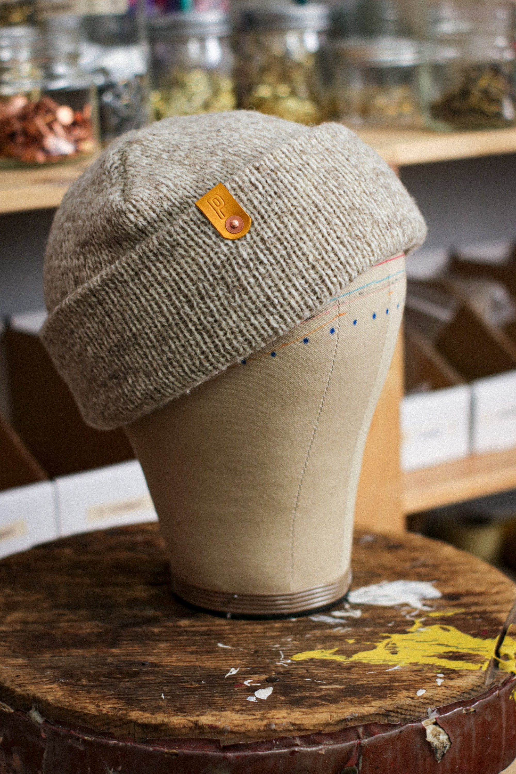 Wool Watch Cap | NATURAL