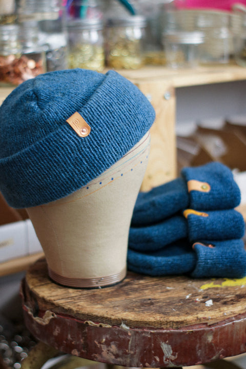Wool Watch Cap | BABY BLUE INDIGO