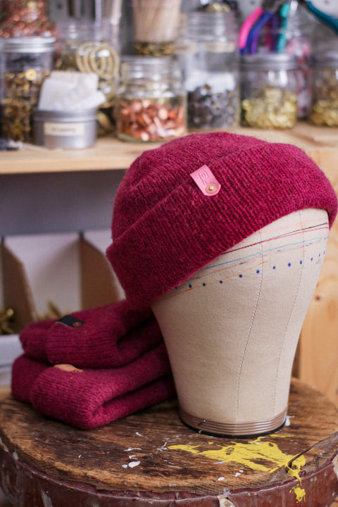 Wool Watch Cap | SUPER PINK