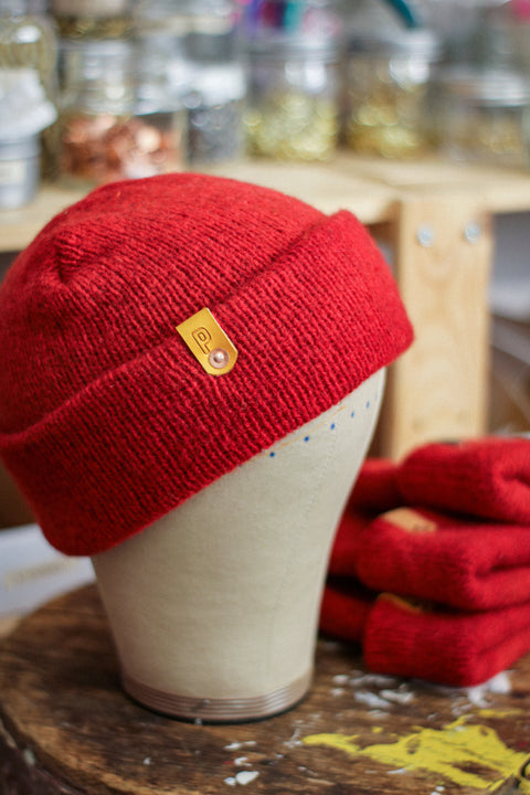 Wool Watch Cap | HELLA RED