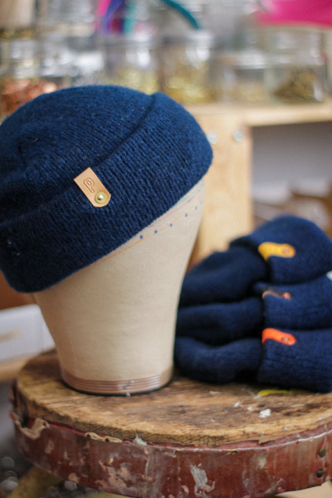 Wool Watch Cap | HELLA BLUE INDIGO