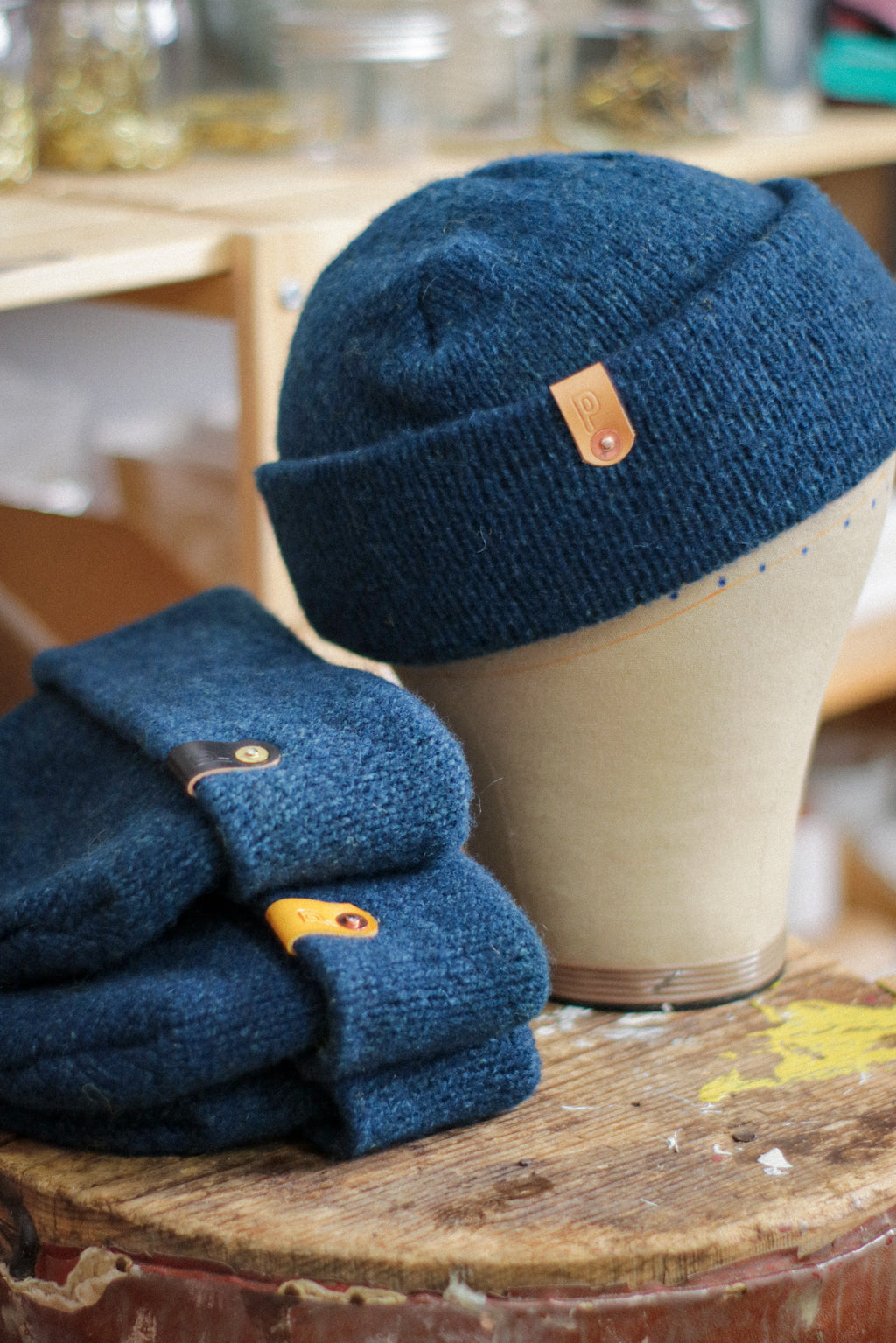Wool Watch Cap | BLUE-ISH-GREEN-ISH INDIGO