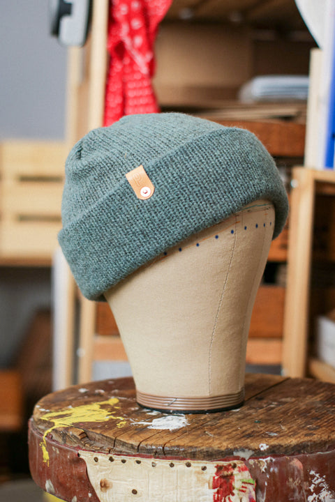 Wool Watch Cap | GOOD JUJU SAGE GREEN