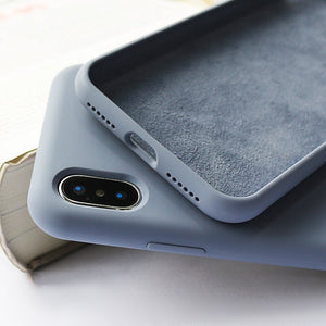 6/6s cover case Grigio caso in pelle custodia per iPhone 8 7