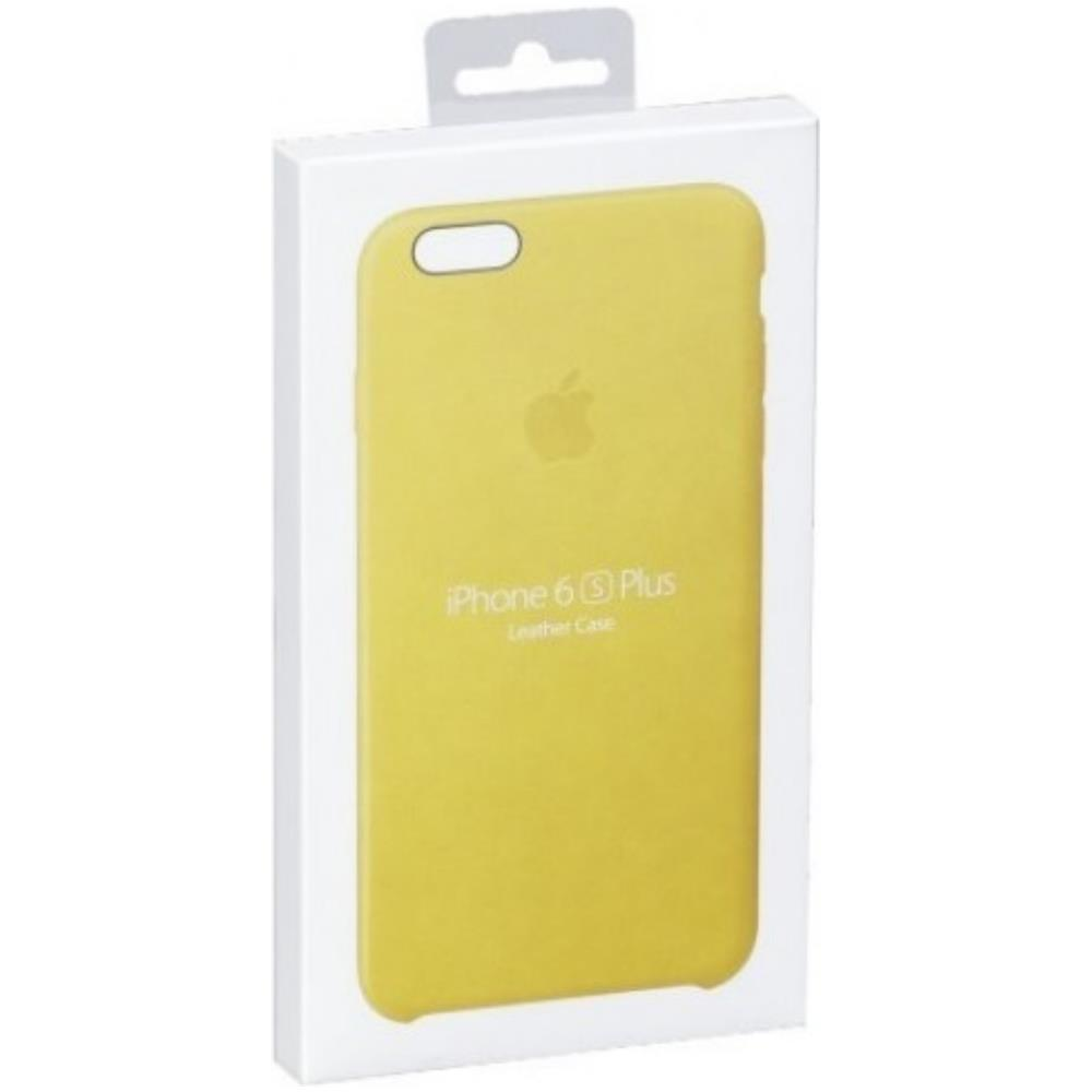 APPLE - Custodia in Pelle per iPhone 6s Plus Colore Giallo
