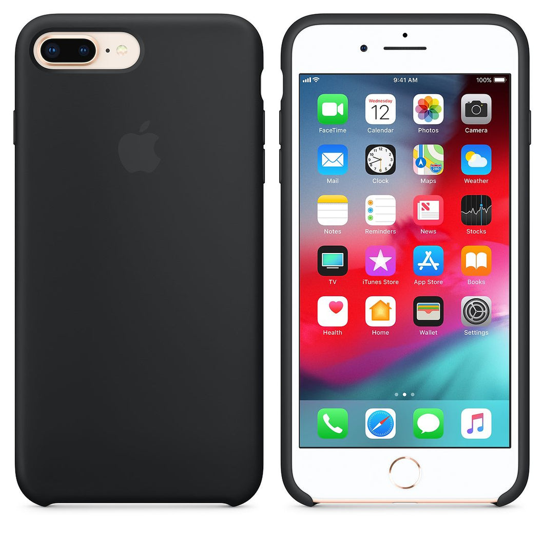 Apple Silicone Case Back cover Apple iPhone 8 iPhone 7 Black