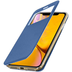 Avizar - Custodia Iphone Xr Finestra Porta-carte Cover Silicone