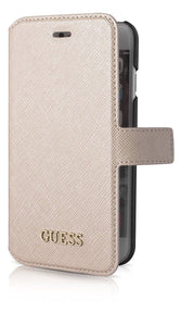 Buy online Guess Saffiano Flip Cover Case iPhone 6 Plus Beige