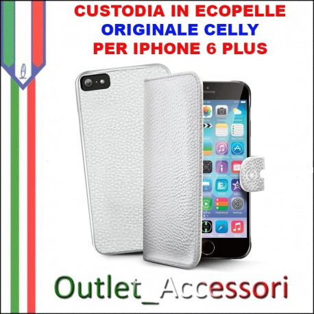 CELLY Custodia iPHONE 6 a portafoglio bianca con cover staccabile