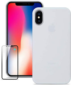 COVER CUSTODIA ULTRA SLIM 0.3mm BIANCA PER IPHONE XS MAX OPACA