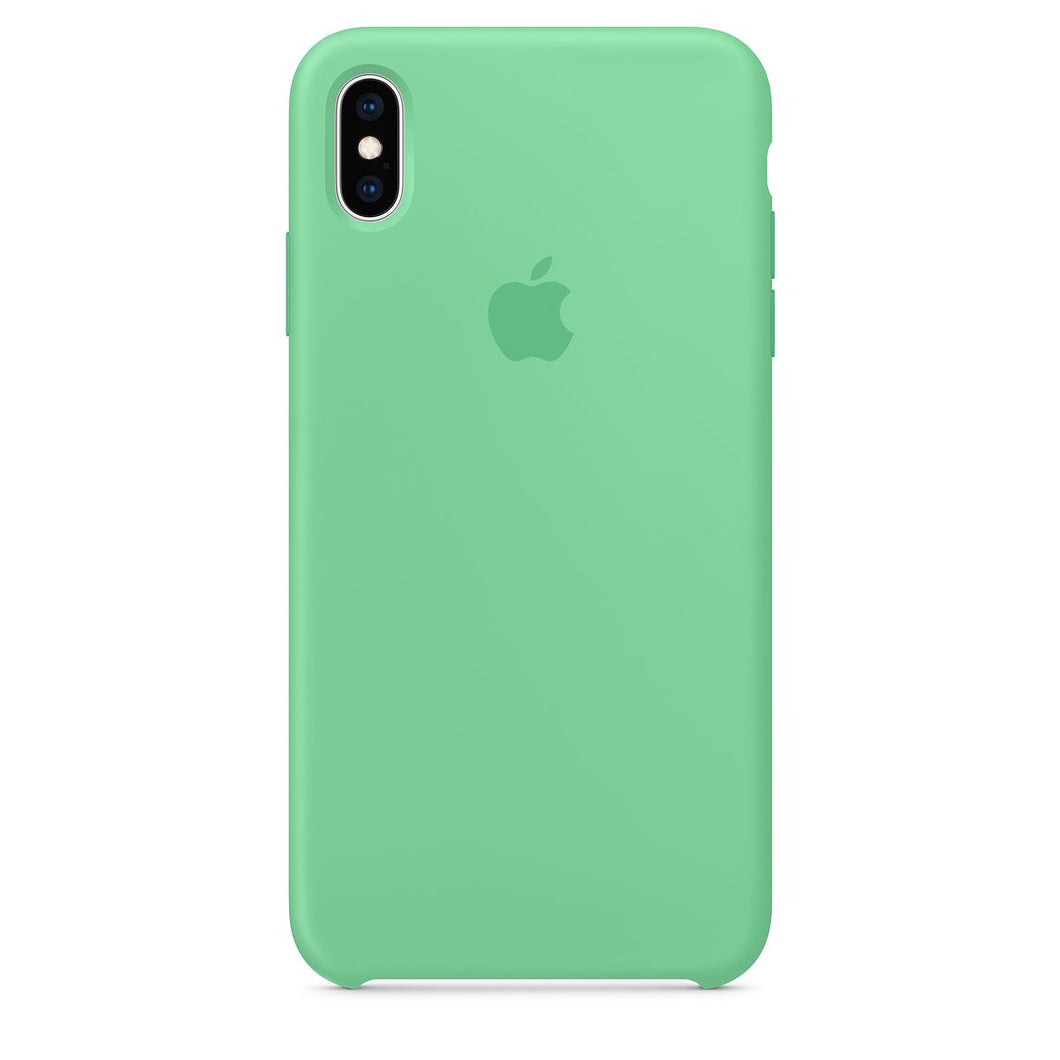 CUSTODIA APPLE IN SILICONE PER IPHONE XS MAX - VERDE PACIFICO