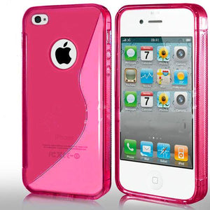 Cover Custodia Sline Silicone TPU per Apple iPhone 4/4S in 8 colori.