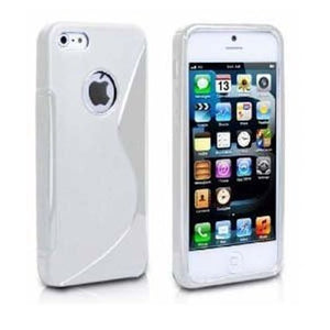 Cover Custodia Sline Silicone TPU per Apple iPhone 5/5S in 8 colori.