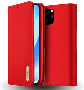 Cover a libro per Apple iPhone 11 Pro - Similpelle rosso Custodia