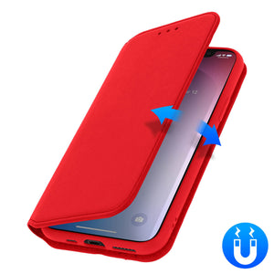 Custodia Flip Portacarte e Stand Video - Rosso per Apple iPhone 11