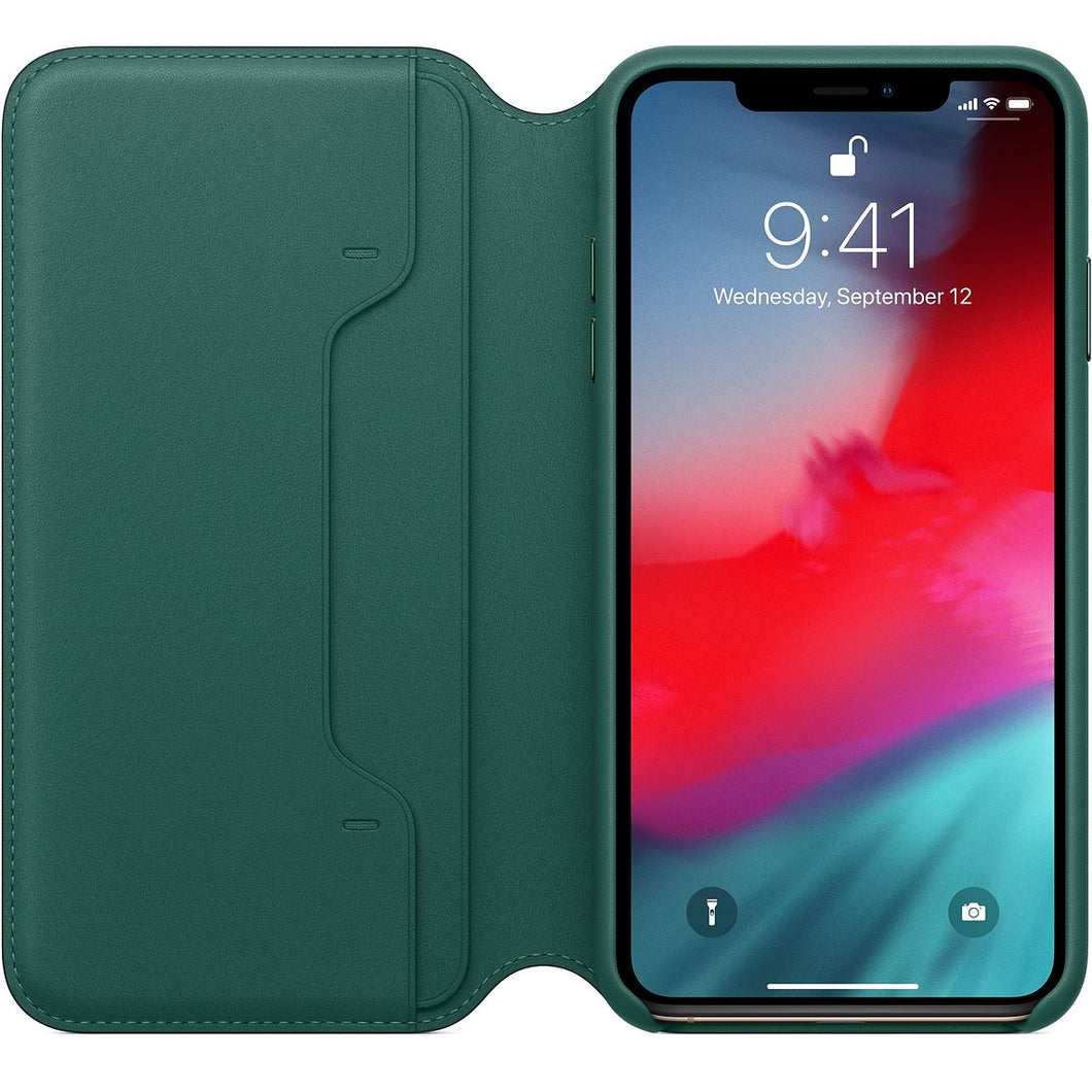 Custodia in pelle per iPhone XS Max - Verde foresta - Apple (IT)