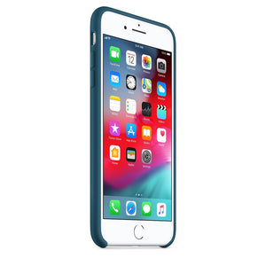 Custodia in silicone per iPhone 8 Plus / 7 Plus - Blu cosmo