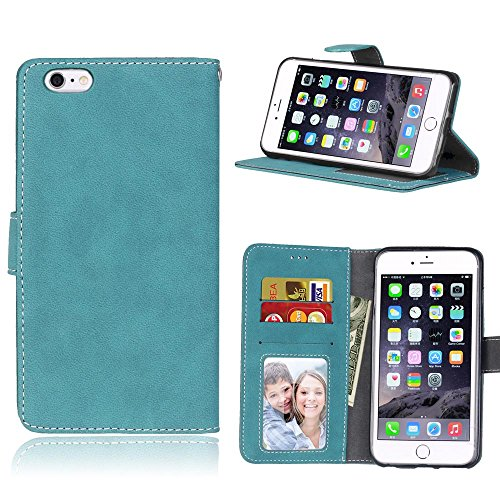 Custodia iphone 6 / 6S Cover blu Cozy hut [Retro] [Matte] Retro