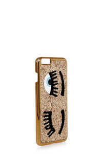 D&g family cover iphone 7plus-8plus stampata glamood rosso pelle