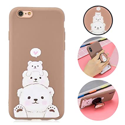 EuCase Cover iPhone 7 Custodia iPhone 7 Silicone Bianco Cover