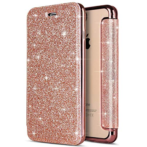 Felfy Cover iPhone X GlitterCustodia iPhone X FlipCover per