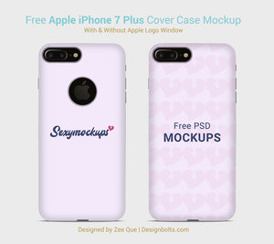 Free Apple iPhone 7 Cover Case Mock Up PSD by Zee Que