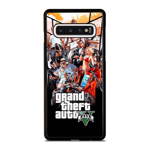 coque custodia cover fundas hoesjes j3 J5 J6 s20 s10 s9 s8 s7 s6 s5 plus edge D25477 GRAND THEFT AUTO V GTA 5 Samsung Galaxy S10 Case