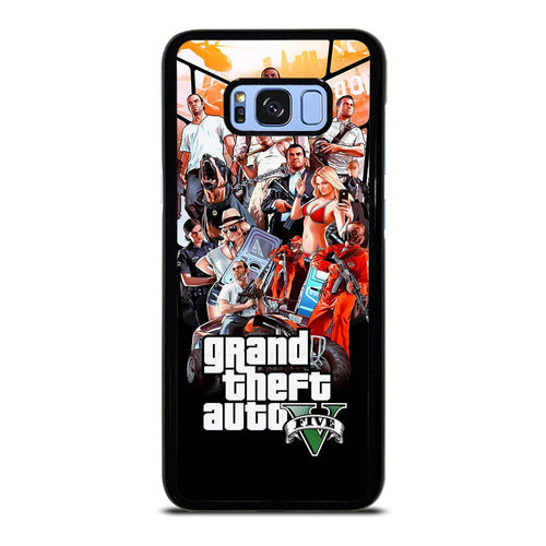 coque custodia cover fundas hoesjes j3 J5 J6 s20 s10 s9 s8 s7 s6 s5 plus edge D25483 GRAND THEFT AUTO V GTA 5 Samsung Galaxy S8 Plus Case