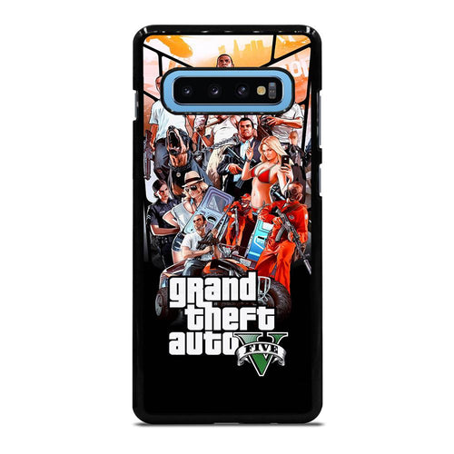 coque custodia cover fundas hoesjes j3 J5 J6 s20 s10 s9 s8 s7 s6 s5 plus edge D25479 GRAND THEFT AUTO V GTA 5 Samsung Galaxy S10 Plus Case