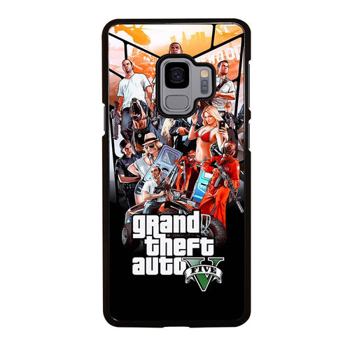coque custodia cover fundas hoesjes j3 J5 J6 s20 s10 s9 s8 s7 s6 s5 plus edge D25484 GRAND THEFT AUTO V GTA 5 Samsung Galaxy S9 Case