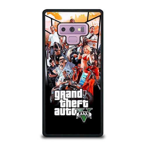 coque custodia cover fundas hoesjes j3 J5 J6 s20 s10 s9 s8 s7 s6 s5 plus edge D25475 GRAND THEFT AUTO V GTA 5 Samsung Galaxy Note 9 Case