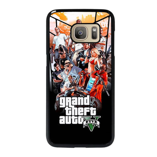 coque custodia cover fundas hoesjes j3 J5 J6 s20 s10 s9 s8 s7 s6 s5 plus edge D25480 GRAND THEFT AUTO V GTA 5 Samsung Galaxy S7 Case