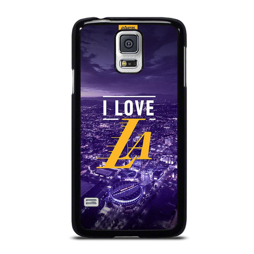 coque custodia cover fundas hoesjes j3 J5 J6 s20 s10 s9 s8 s7 s6 s5 plus edge D27542 I LOVE LA LAKERS Samsung Galaxy S5 Case