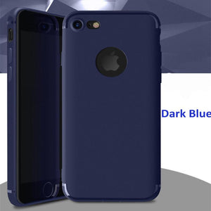 Iphone 6 47 Slim Matte Cover Blue For